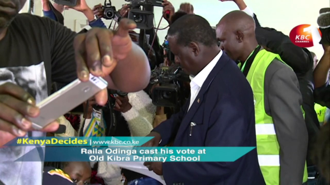 Raila Odinga cast his vote