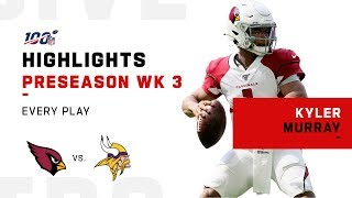 Every Kyler Murray Pass & Run vs. Vikings | NFL 2019 Highlights
