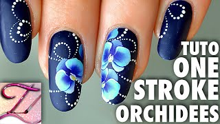 Tuto nail art orchidées One Stroke