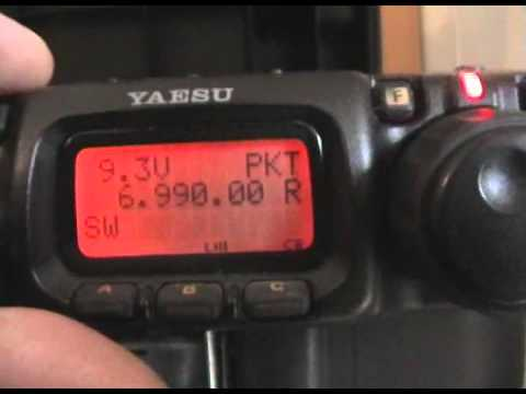 yaesu ft-817nd + homebrew fishing pole antenna. SWL-ing over the HF bands