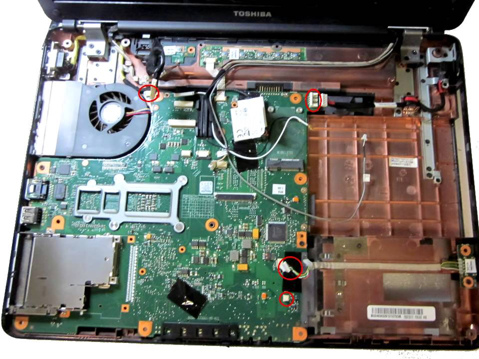 Toshiba Satellite Pro L300D Disassembly guide - YouTube