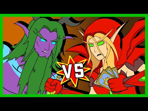 Malfurion v Valeera: A Hearthstone Cartoon