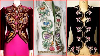 New Stylish Ladies Embroidered Waistcoat Jacket Girls Koti Vest Ideas For Dresses 2020 Collection