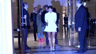 EXCLUSIVE - Kim Kardashian and Kanye West show affection at a Party in Paris