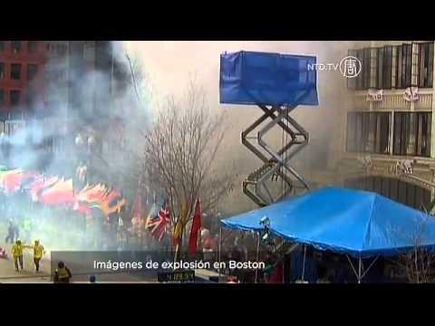 Imágenes de explosión en Maratón de Boston