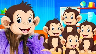 Five Little Monkeys Jumping On The Bed - BEST Nursery Rhymes Song For Kids