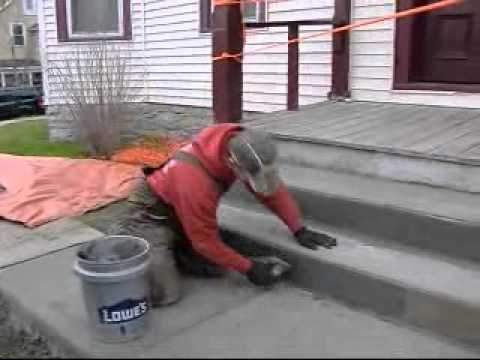 12 13 11 Finishing Concrete Stairs Youtube