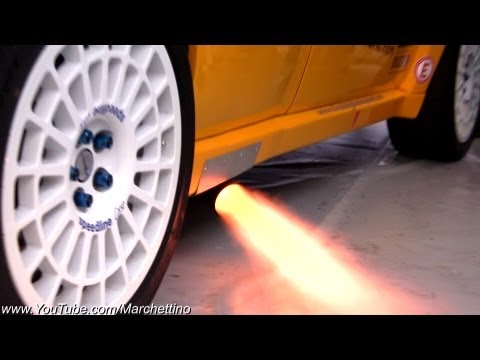 Lancia Delta HUGE Anti-Lag Flames & Backfire!