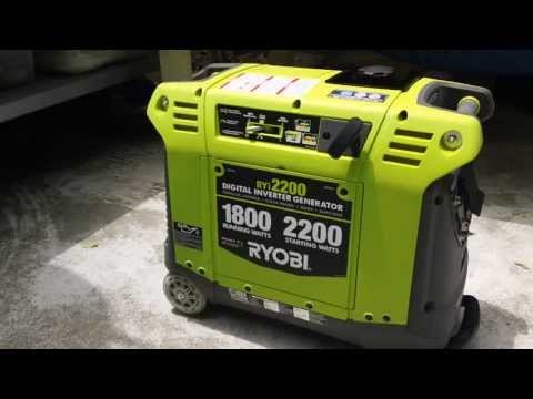 Ryobi RYi2200 Inverter Generator - Quick Start and Review
