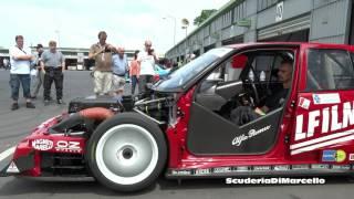 ALFA ROMEO 155 V6 TI DTM/ITC Starting/warming up ex Fisichella