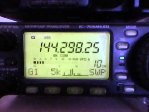 Sporadic-E 144 MHz scanning frequency big signals