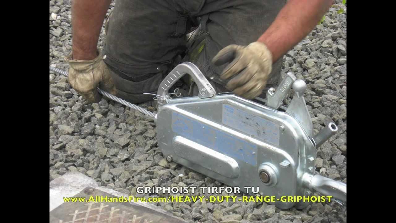 Griphoist Tirfor Portable Manual Usar Hoist For Lifting