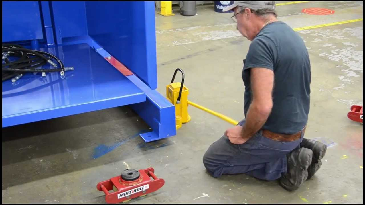 How To Use Machinery Skates Toe Jacks And Roller Skids