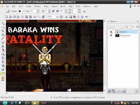 tutorial corel photo paint 11 (parte1)