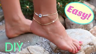 Cute diy anklet   easy diy jewelry   DIY projects you need to try!