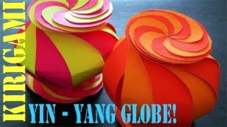 Ten Sided Yin - Yang Globe (kirigami) - Tcgames [hd]!