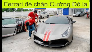 Car Passion 2019: Dân chơi Cường Đô la bất ngờ bị Ferrari đè chân khi dừng nghỉ