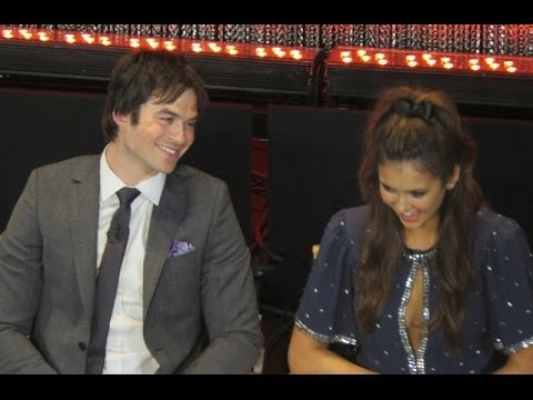 Ian Somerhalder and Nina Dobrev answer Delana Rain Kiss Question at 2014 Paley Fest