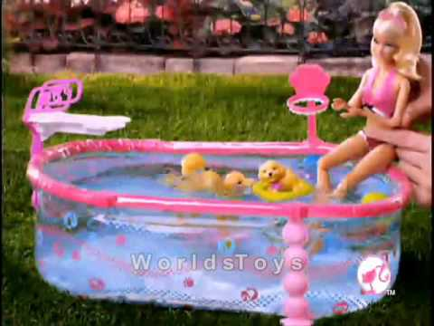 2010 � Barbie� Puppy Swim School with Pool! doll commercial