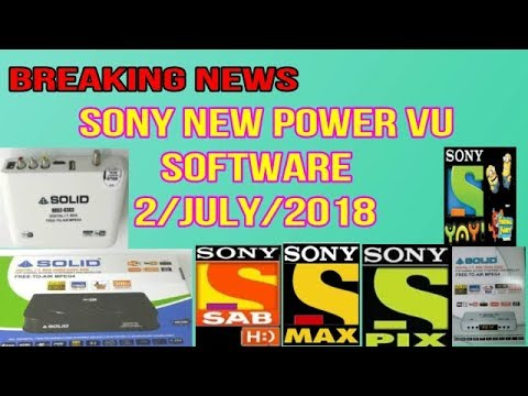2 JULY 2018 SONY POWERVU SOFTWARE FOR 6363,6303