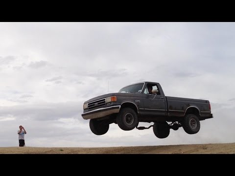 Big Air in an F-150 (4 camera views)