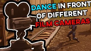 Dance in front of different film cameras [LOCATIONS]