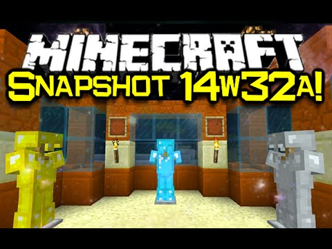 Minecraft Snapshot 14w32a NEW Armor Stands Coloured Beacons Red Sandstone