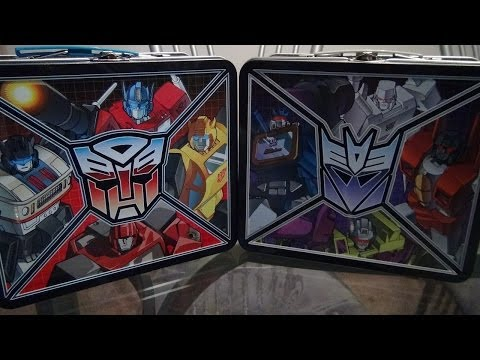 TRANSFORMERS G1 LUNCHBOXES VIDEO REVIEW BY MITCH SANTONA