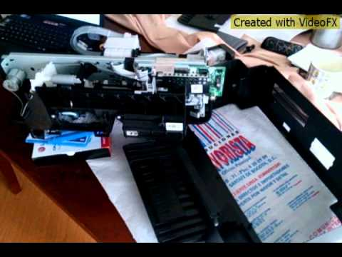 Epson L200 impresora desarmar cambiar diodo SK16