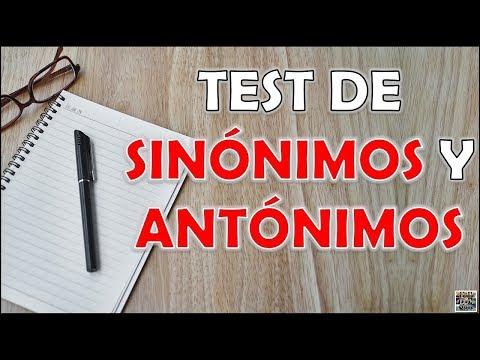 Test de SINГNIMOS Y ANTГNIMOS RetoTrivialQuiz