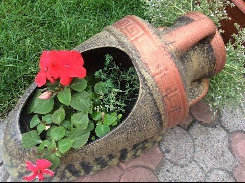 Как сделать своими руками кувшин для сада