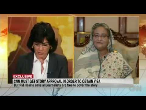 CNN - Sheikh Hasina interview - Shame our Govt.