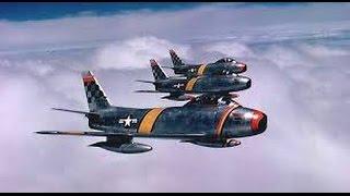 Korean War Jet Dogfights   F86 Saber Jets vs MIG 15   Military