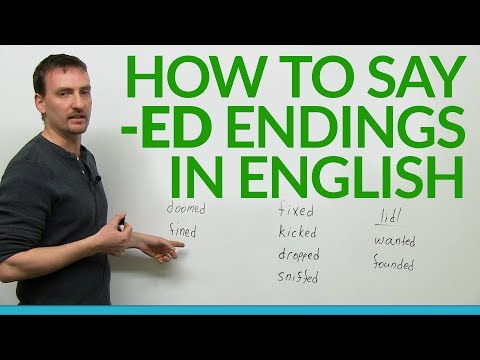How to say -ed endings in English thumbnail