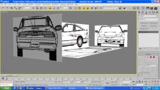 3DS max tutorial  Setting up blueprints Part 2/2 2014 HD