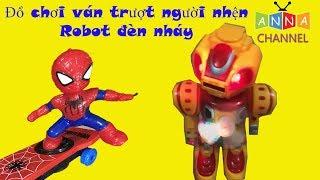 Anna Channel ❤ Review Kids Toy Spiderman| Đồ chơi người nhện đi ván trượt| Đồ chơi trẻ em