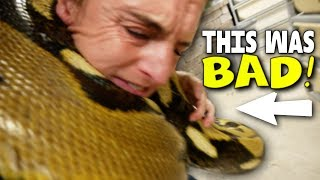 VERY SCARY MOMENTS WITH A 20 FOOT SNAKE!! (SERIOUSLY) | BRIAN BARCZYK