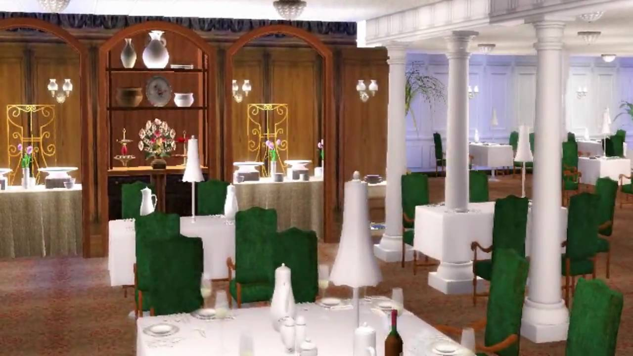 sims 2 titanic first class dining room hd youtube