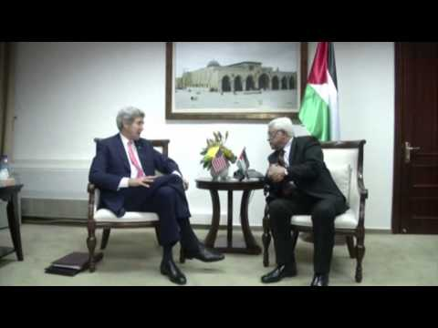 Raw: Kerry Meets With Abbas After Netanyahu video