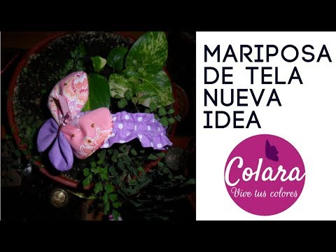 Diadema Mariposa Paso a Paso // Butterfly Fabric Step by Step 2018 + Molde Gratis PDF !