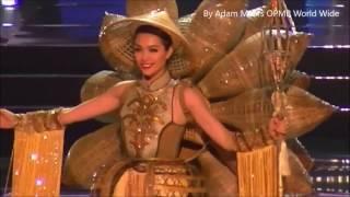 """Full 4 phần trình diễn của Lệ Hằng và màn  """"căng thẳng"""" đối với Miss Venezuela phía hậu trường"""