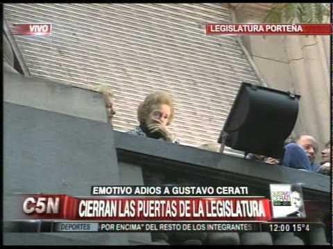 C5N MURIO GUSTAVO CERATI: DESPEDIDA DE SU MADRE PARTE 2