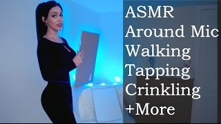 ASMR EXPLORE (Walking around, Long Nails, Tapping, White Board, Bottle and more)
