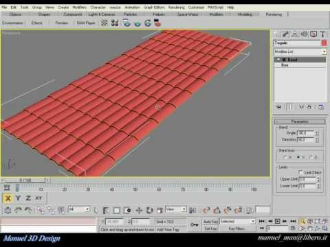 Черепица в 3D Max Крыша в 3D Max Кровля в 3d max курсы визуализации в 3d max на сайте rentaldj.ru