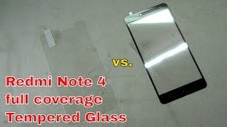 Redmi Note 4  full coverage Tempered Glass