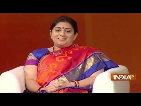 IndiaTV Samvaad: Union HRD Minister Smriti Irani on PM Modi's Degree Details