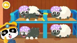 Trò chơi nông trại vui vẻ - Trang trại nuôi cừu của Gấu Trúc nhỏ - Bé học con vật