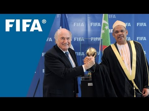 Courtesy visit Head of State & FA President of the Comoros