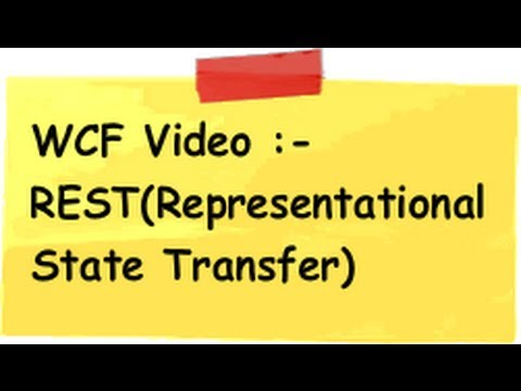 WCF :- What is REST ( Representational state transfer  ) ?