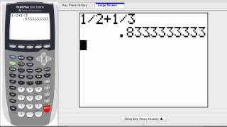 Graphing Calculator - Convert Fractions and Decimals